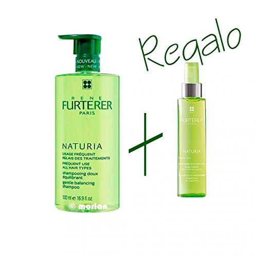 Rene Furterer Naturia Champú Uso Frecuente Dosificador, 500ml+REGALO Spray Desenredante Extra-Suave Sin Aclarado, 50ml