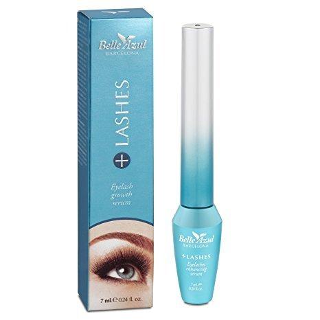 Belle Azul +Lashes - Wimpernserum für dichte, kräftige und lange Wimpern. Nährstoffreiche Wimpernpflege mit Arganöl für mehr Wimpernvolumen und einen dichten Wimpernkranz. (7ml)