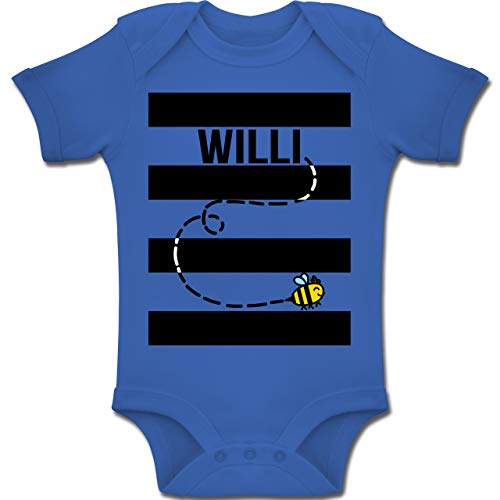 Shirtracer Karneval und Fasching Baby - Bienen Kostüm Willi - 6-12 Monate - Royalblau - BZ10 - Baby Body Kurzarm Jungen Mädchen (Lustiger Film Paare Kostüm Ideen)