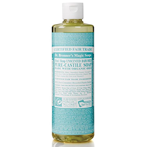 Dr. Bronner's Organic Pure Castile Liquid Soap, Baby, Mild, 16 oz, 2 Pack by Dr. Bronner's