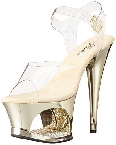 Pleaser, Sandali donna Clr/Gold Chrome