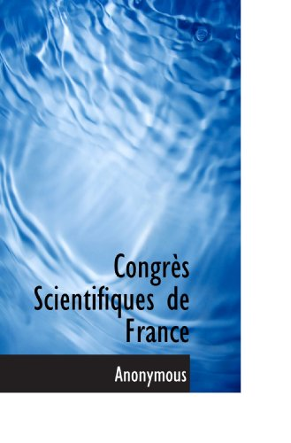 Congrès Scientifiques de France