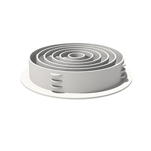 50 x 70MM White Plastic Round Soffit Air Vents / Upvc Push in Roof Disc / Fascia by Manthorpe