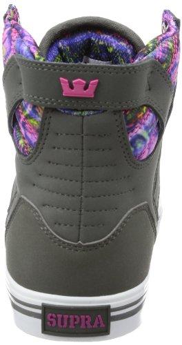 Supra WMNS SKYTOP SW18014 Damen Sneaker Grau (CHARCOAL / PINK - WHITE CHP)