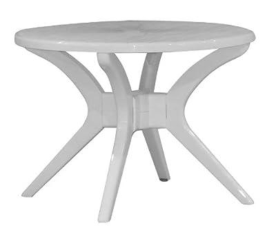 Gartentisch Steiner MILANO Ø 100 cm rund Kunststoff Weiß