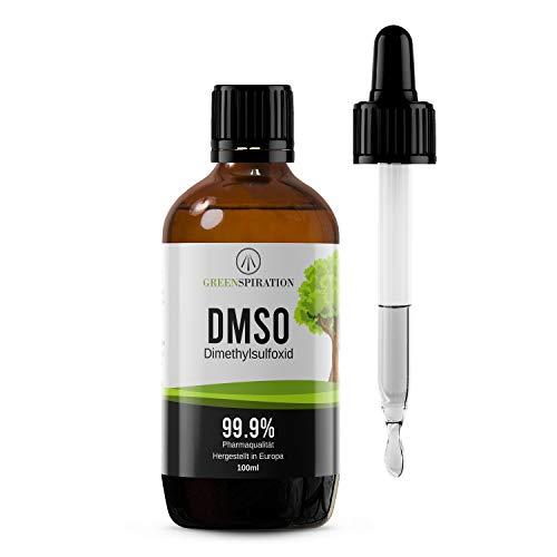 DMSO 99.9% Reinheit / 100ml Dimethylsulfoxid flüssig / pharmazeutische Qualität: zertifiziert und getestet / Braunglasflasche mit Glaspipette zum richtig Tropfen und Dosieren -