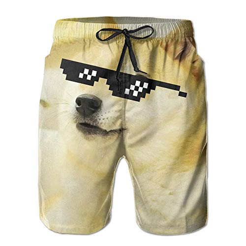 Doge Sunglasses Swag Casual Holiday Beach Short for Men Boys-XL