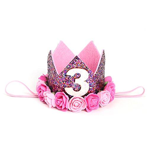 TOYMYTOY Accesorios para el cabello Baby Princess Flower Crown Diadema para el cumpleaños B tipo 3 (Colorido)