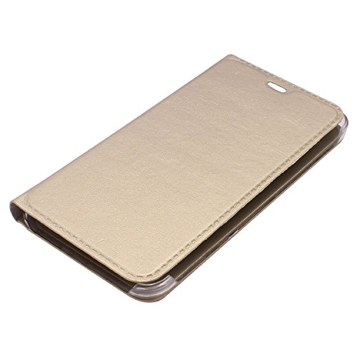 M.G.R Premium Leather Flip Cover Case (Gold) for Samsung Galaxy On7 Pro