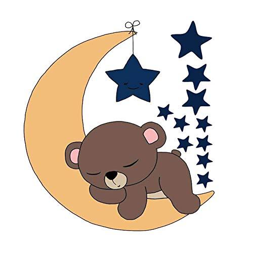 ITemer 1 pieza lindo sueño oso estrellas luna pegatinas habitación de los niños decoración del dormitorio...
