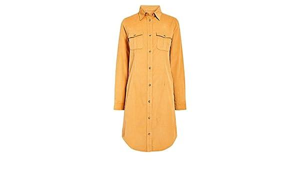 b04e42b3f3059 Next Robe Chemise en Velours Côtelé Femme Longue Ocre EU 44 Tall (UK 16T)   Amazon.fr  Vêtements et accessoires