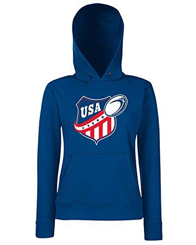 T-Shirtshock - Sweats a capuche Femme TRUG0078 american rugby usa logo Bleu Navy