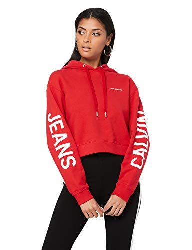 Calvin Klein Jeans Damen Sweatshirt rot S -