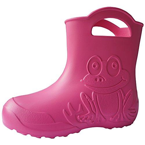 SAPRO SYSTEM Frog Kids Boys Girls Wellies Rain Boots Warm Fleece-Lined Light Unisex Children Wellington Boots PVC-Free EVA