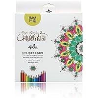 Matite Colorate Kasimir 48 Colori A Matite Professionale Disegno Set per Sketch Giardino Segreto Libro da Colorare