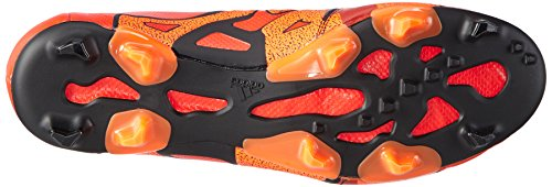 adidas Performance Herren X15.1 Fg/Ag Leather Fußballschuhe Rot (Solar Orange/Core Black/Bold Orange)