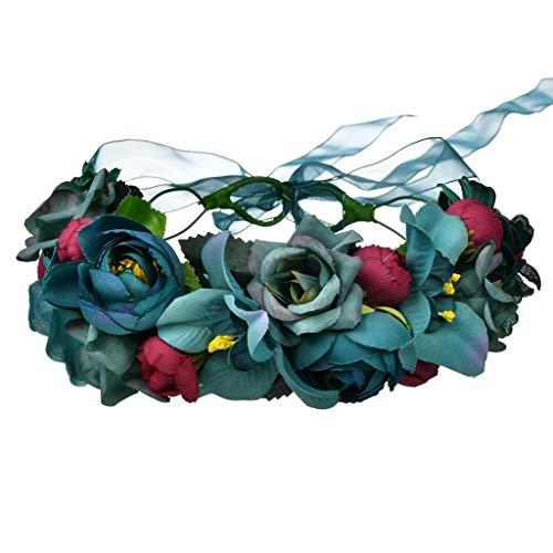 tliche Reise Meer Urlaub Hochzeit Foto Tiara Haarschmuck Dekoration Weihnachten Blumenhaar Kranz ()
