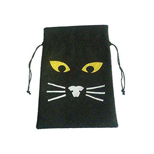 üten Beutel Säckchen Tasche mit Halloween Stil für Lebensmittel und Geschenk - Schwarz, 25X15cm ()