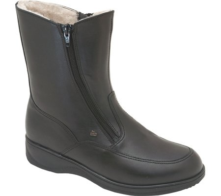 Finn Comfort Womens 2175 Minsk Leather Boots Noir