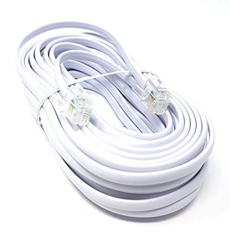 M (lang, High Speed ADSL Modem-Kabel (RJ11auf RJ11, 1m, 2m, 3m, 5m, 10m, 15m, 20m, 30m 10m weiß