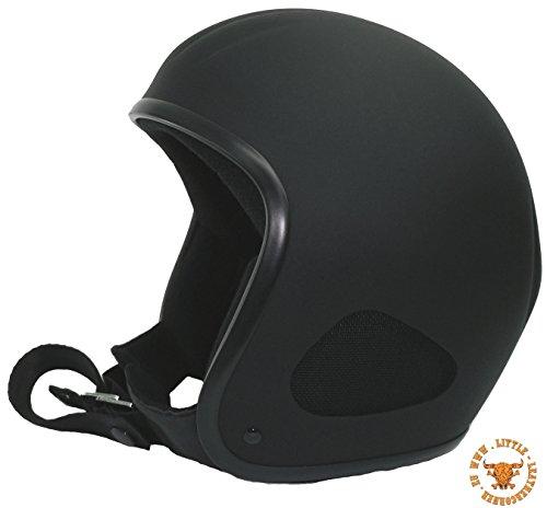 CLASSIC TITAN -Jet Helm schwarzmatt,(XXL-60/61cm Stirnumfang) Biker Helm, Chopper, Ski, Harley, Jethelm Biker Ski
