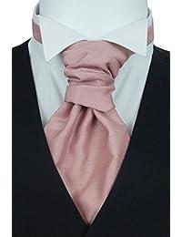 Light Rose Shantung Pre-Tied Wedding Cravat