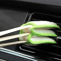 Suministros de coche, doble aire acondicionado, salida de aire, cepillo de limpieza, Interior del panel de instrumentos, limpieza, pelo suave, cepillo de ángel