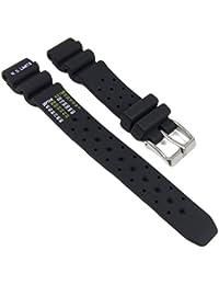 Citizen Marken Ersatzband Uhrenarmband Kautschuk Band schwarz für EP6000-07H