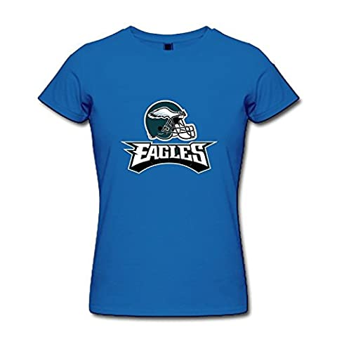 Femme's Funny Quotes Ring Spun Cotton Philadelphia Eagles Helmet Tee-shirt Large