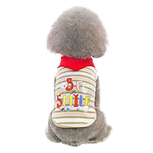 (EUZeo Schön Haustierbekleidung Kleidung für Kleiner Hund Kleine Katze Niedliche Briefe gedruckt Haustierkleidung Kätzchen Hündchen Kätzchen Weste Pullover Casual Haustier Pullover Sweatshirts Tshirts)