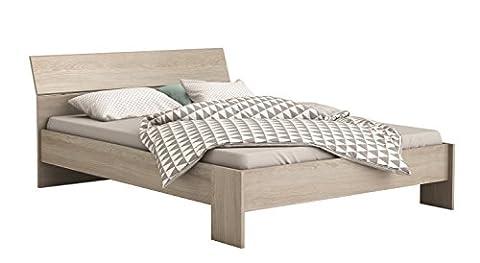 Einzelbett Futonbett Doppelbett Bett Katie 140cm x 200cm Eiche Schlafzimmer Jugendzimmer