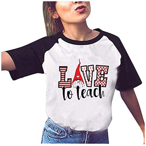 yazidan Loving Liebe Drucken Shirts Couple Damen Herren Shirt Pärchen T-Shirts Paar Tshirt Kurzarm Valentinstag Oberteile Bluse Tops 1 Stücke