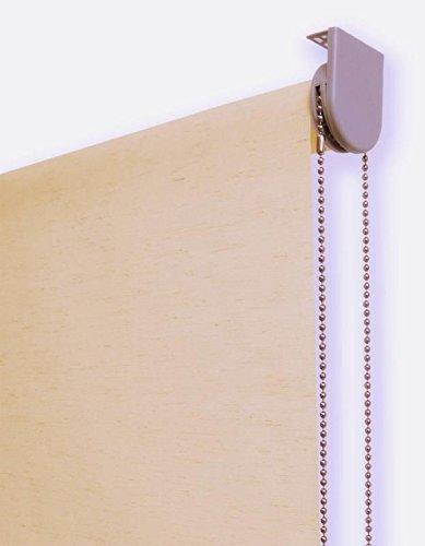 Estor enrollable lino PREMIUM METAL (desde 40 hasta 260cm de ancho) translúcido (permite paso de luz / no permite ver el exterior). Color lino tostado. Medida 164cm x 240cm para ventanas y puertas.