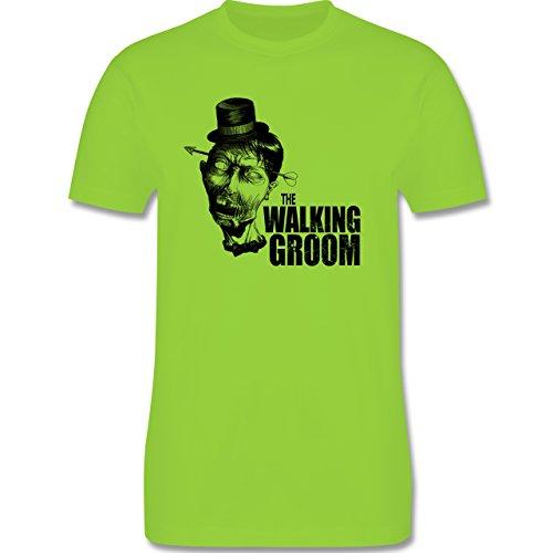 JGA Junggesellenabschied - The Walking Groom - Zombie JGA - Herren Premium T-Shirt Hellgrün