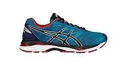 Asics Mens Island Blue, Black and Vermilion Running Shoes - 9 UK/India (44 EU)(10 US)