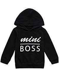 0-4Year Toddler Baby Boys Girls Hooded Sweatshirts Infant Letter Blouse Hoodies Tops
