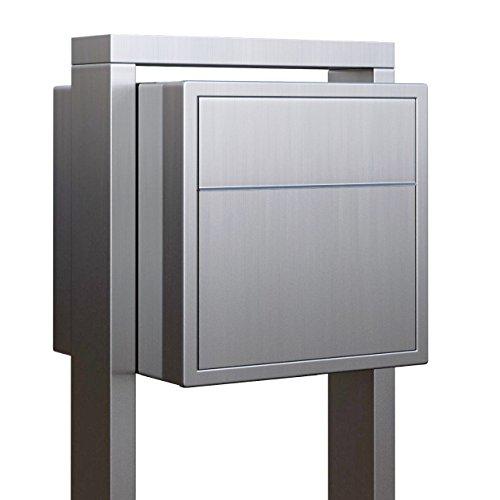 Standbriefkasten, Design Briefkasten freistehend Soprano Edelstahl - Bravios