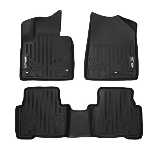 Without Second Center Console for Ford Explorer 2 Row Set MAX LINER A0245//B0082 Black Floor Mat