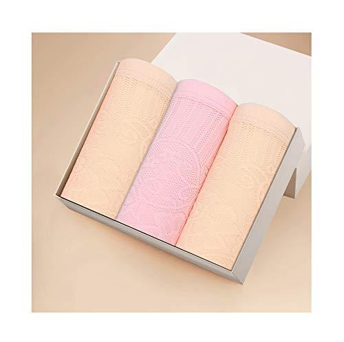 ZZYQING Damen, die Unterhosen an der Taille Formen und die Hüften eng aneinander anrichten 3 Streifen, M, gelb 2+ pink 1