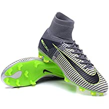 yurmery zapatos de fútbol para hombre Mercurial Superfly V FG–Botas de fútbol