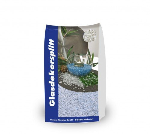 Glassplitt Weiß 5-10mm 15 kg Sack - Glasschotter Glaskies Dekoglas - innovativen Garten Gestaltung