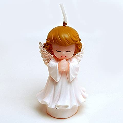 Angel Shape Small Cartoon Birthday Candle,Wedding Candle, Smokeless Cake Candle for Party, Charming Gift,Baby Shower and Wedding (White Angel