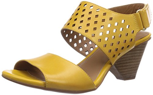 Clarks Ranae Alette, Damen Knöchelriemchen Sandalen, Gelb (Honey Leather), 39.5 EU