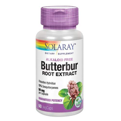 Solaray | Pestwurz-Extrakt (Butterbur) | 50 mg | 60 vegane Kapseln -
