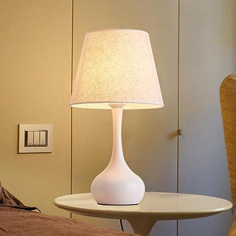 Moderno y minimalista de faros de luz creativos pueden salón dormitorio caliente de atenuación de luces de lámpara de mesilla ,T2986 Ojo de Aprendizaje sobre blanco / bloque, mudos Xiangyun) , el interruptor de
