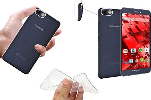 ECellStreet Transparent Crystal Clear Soft Back Case Cover Back Cover for Panasonic P55 Novo