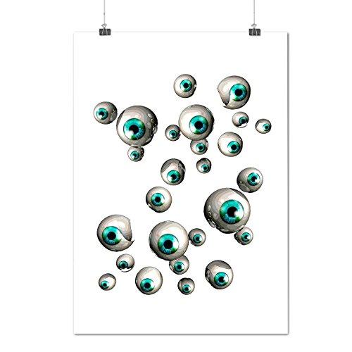 Capri-baumwoll-leibchen (Mehrere Augapfel Spaß Mensch Schau Mattes/Glänzende Plakat A2 (60cm x 42cm) | Wellcoda)