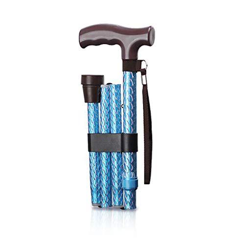 Bastones Blue Walker Muletas Aluminio Plegable Antideslizante