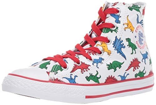 Converse Chuck Taylor All Star Hi 663636C Kinder-Sneaker White/Enamel Red Gr. 29 (US 12) (Converse All Stars Kinder 12)