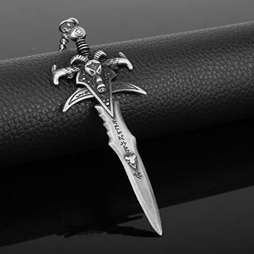d of Warcrafts Schlüsselanhänger Der Lich König Frostmourne Schwert Waffe Dolch Metall Figuren Schlüsselanhänger Schlüsselanhänger -50 ()